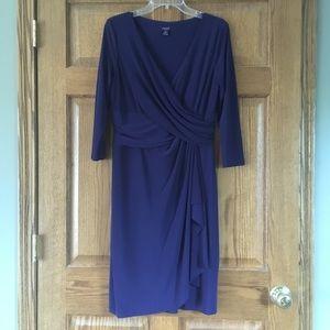 Chaps Dark Blue Dress Large